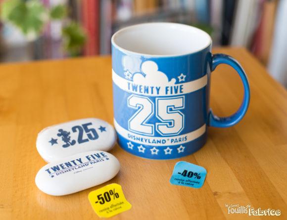 (en soldes) Mug et gommes, 25ème anniversaire de Disneyland Paris