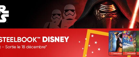 "Précommande Star Wars 8 ""Le dernier Jedi"" et Sortie exclusive de 17 Steelbook Disney/Pixar !"