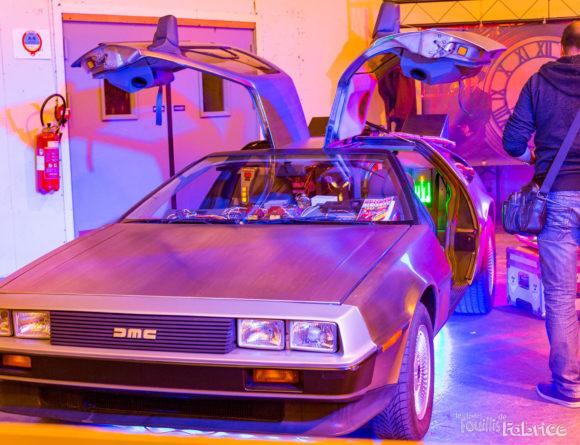 La DeLorean de Retour vers le futur au salon Geek Days de Rennes